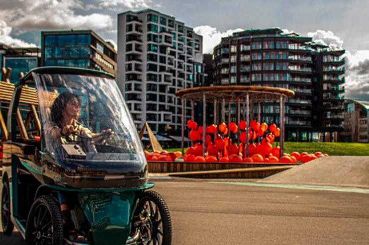 CityQ, bicicleta elétrica de quatro rodas para dar a volta em sua cidade mais segura